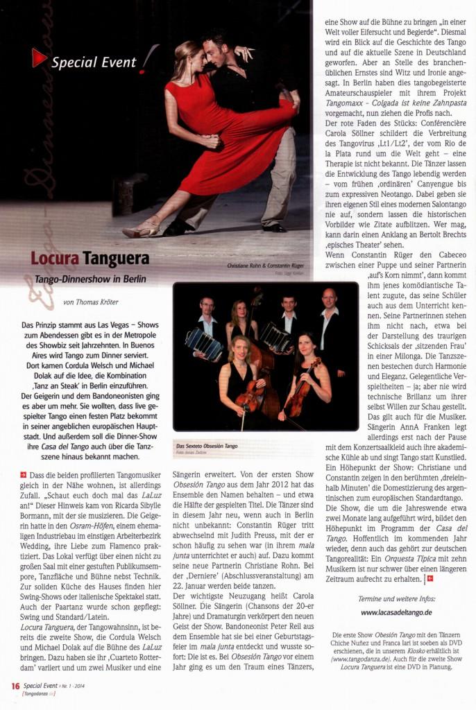 Tangodanza - Nr. 1 - 2014 - Jan-Feb-März