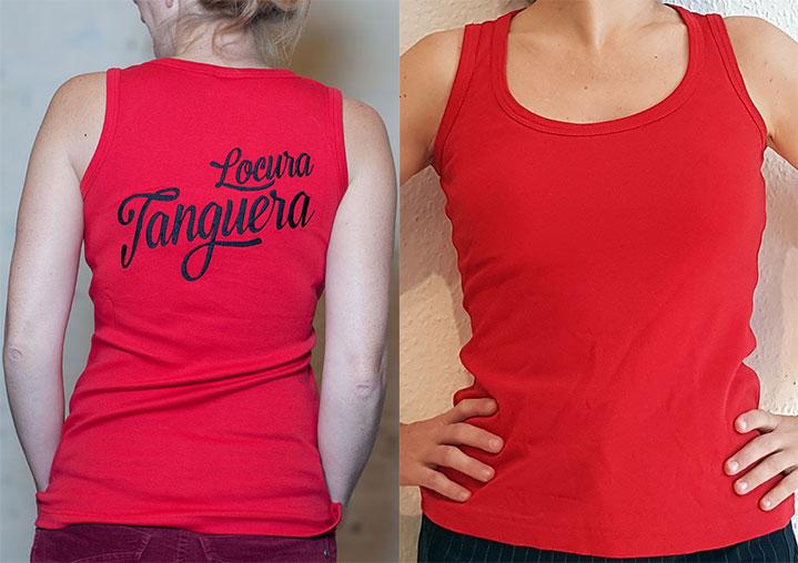 """Damentop """"Locura Tanguera"""" (Rot)"""