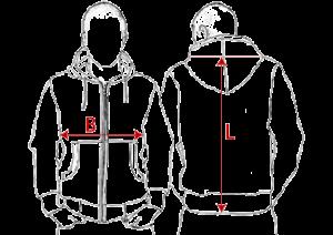 Grösseninfo für Kapuzen-Sweat-Jacken
