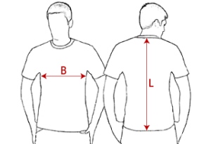 Grösseninfo für T-Shirts